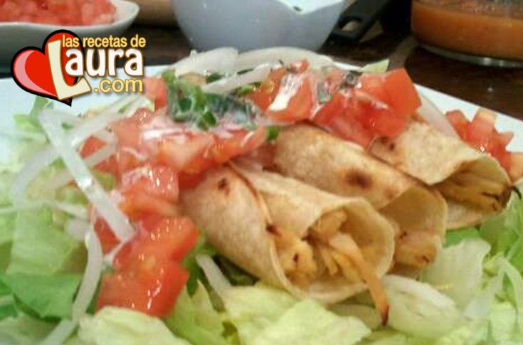Flutas de Pollo Recetas Light Las Recetas de Laura Low fat mexican flautas
