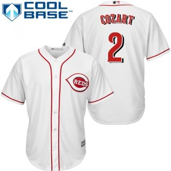 Youth Authentic Home White Cincinnati Reds Zack Cozart Jersey Cool Base MLB Majestic