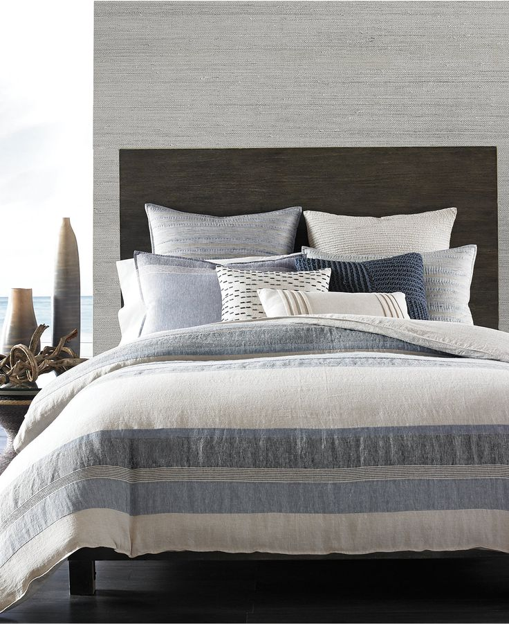 Hotel Collection Linen Stripe Duvet Covers Only