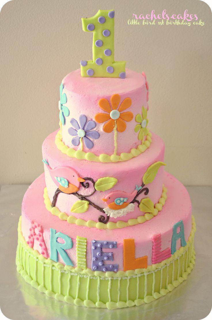 Bird Theme 1st Birthday Cake Www Facebook Com The Rachels