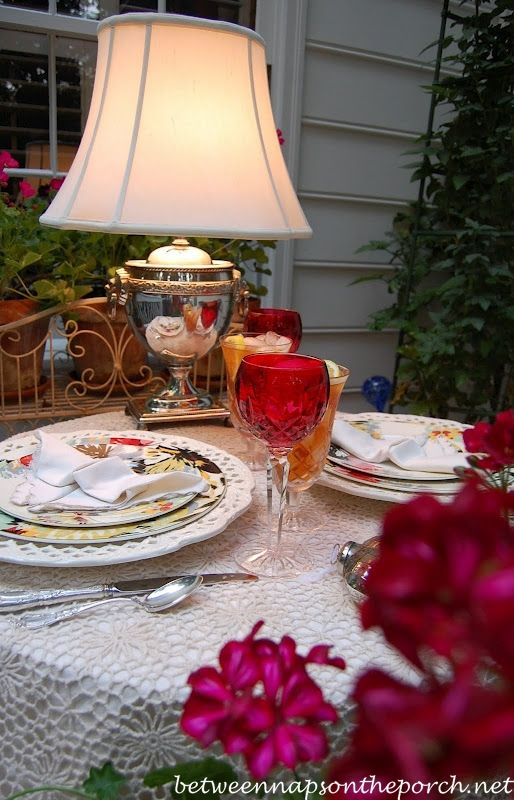 Romantic Table Setting For Two | tablescapes | Pinterest