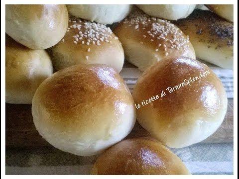 Panini soffici per rinfreschi dolci e salati - Bread rolls al latte - YouTube