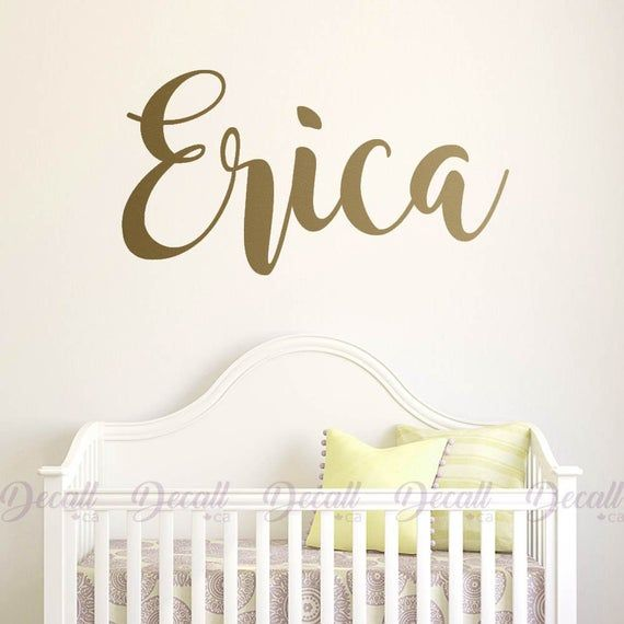 Custom Monogram With Name Wall Decal  Personalized Monogram Kids Room Nursery  Wall Stickers  Removeable Wall Art  Vinyl Wall Decal