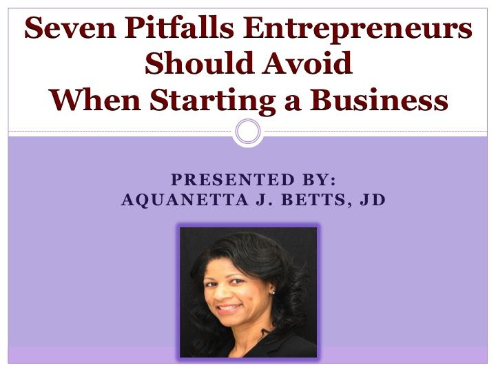 Women entrepreneurs and business owners, November 16th. I will share some of the pitfalls entrepreneurs should avoid when starting a business. Registration required, Free - bring your own lunch/brown bag. http://marylandcapital.worldsecuresystems.com/events/baltimore-county-swib-luncheon-6?location=Baltimore