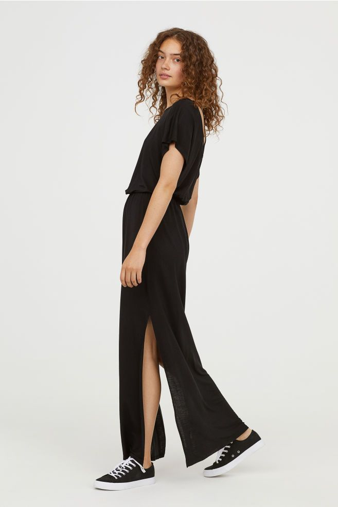 e748703966 Jersey Maxi Dress - Black - Ladies