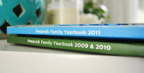 make a family yearbook each year.  love it