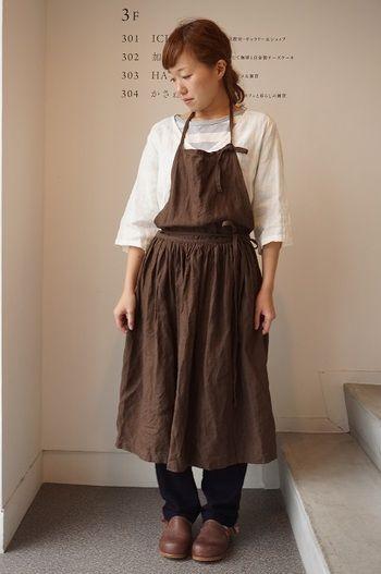Brown's apron