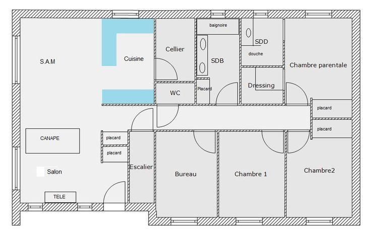 Plain pied 106m² sur sous-sol de 115m² - 23 messages Projets à