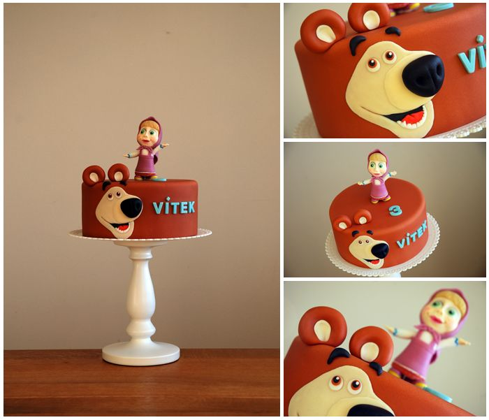 Masha and the Bear Cake by deLucious