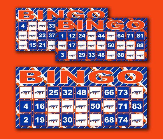 Printable Nerf Bingo Cards, Nerf Bingo Game, Nerf Party Supplies, Nerf Birthday…