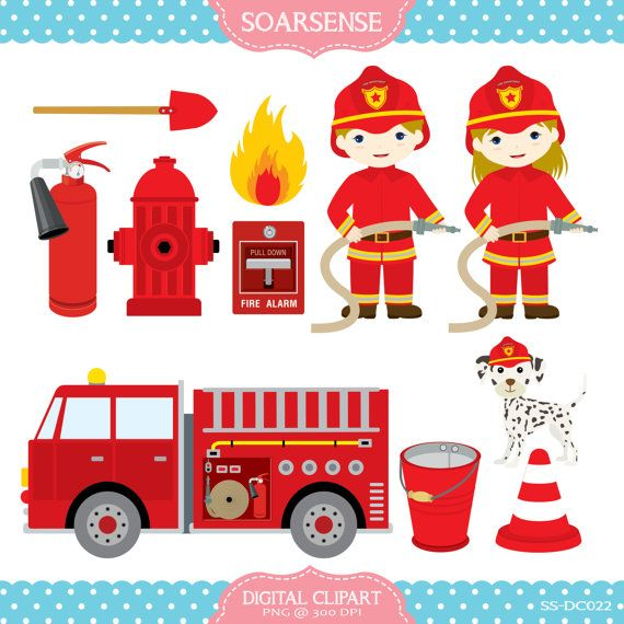 Firefighters Clipart by soarsense on Etsy, $5.00