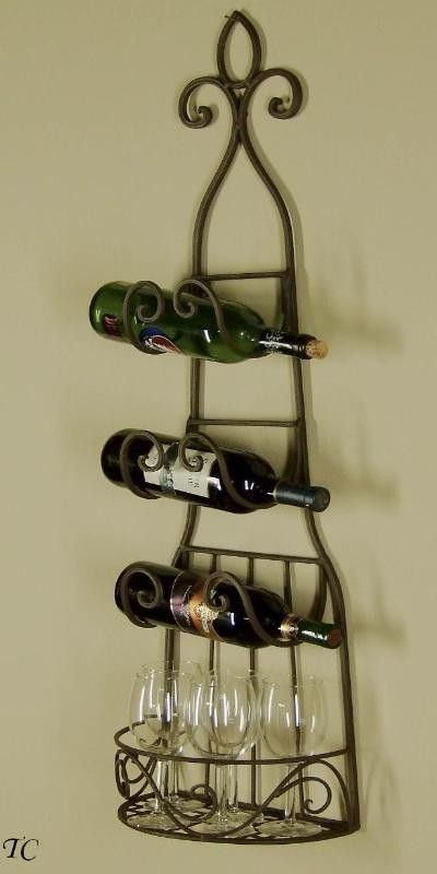 Treasurecombers Sophia Wrought Iron Wine Rack Towel