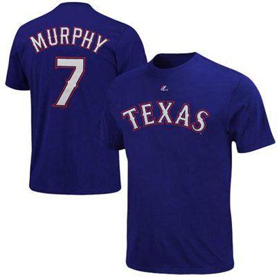 Majestic David Murphy Texas Rangers Player T-Shirt