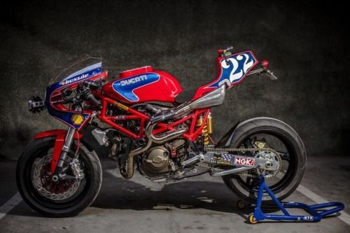 """Ducati Monster 1000 IE Cafe Racer racing """"Pata Negra"""" by XTR Pepo (@xtrpepo) #motorcycles #caferacer #motos   caferacerpasion.com"""