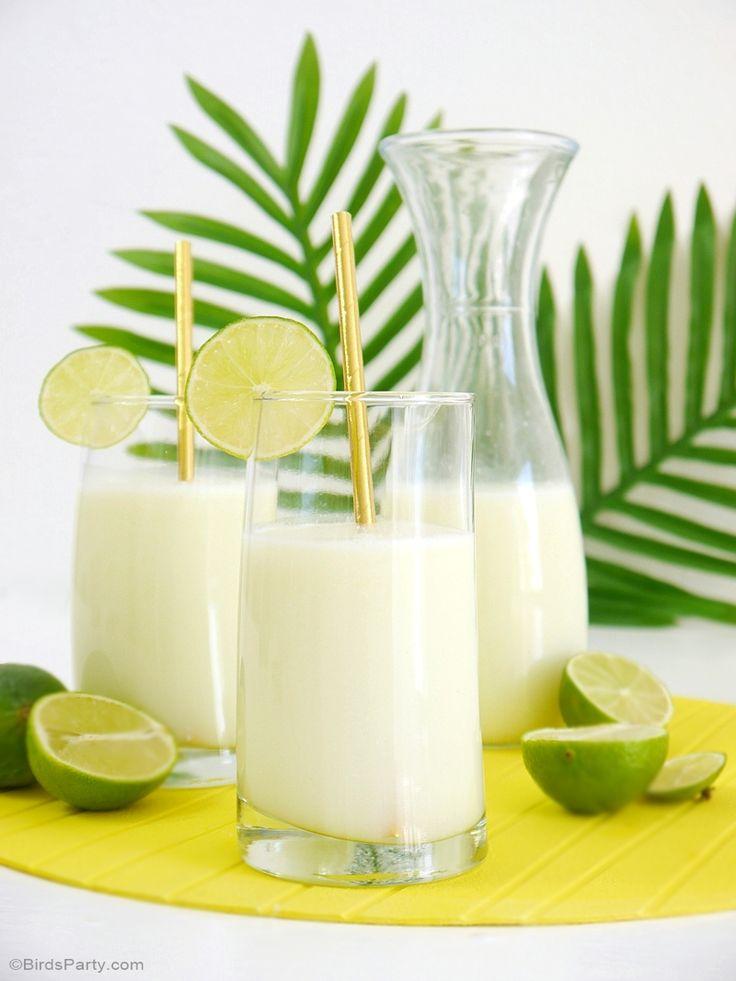 Brazilian Lemonade Limeade Recipe for a Rio Olympic Party - BirdsParty.com