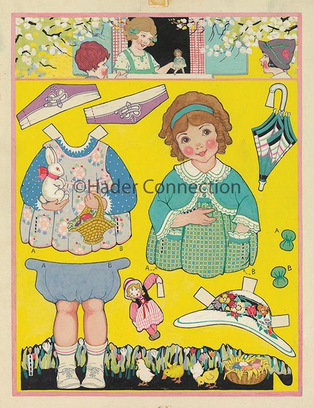 Hader paper doll_Good Housekeeping magazine, April 1924