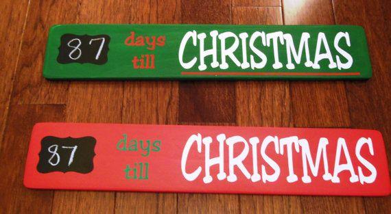 Days Till Christmas Countdown Wood Sign