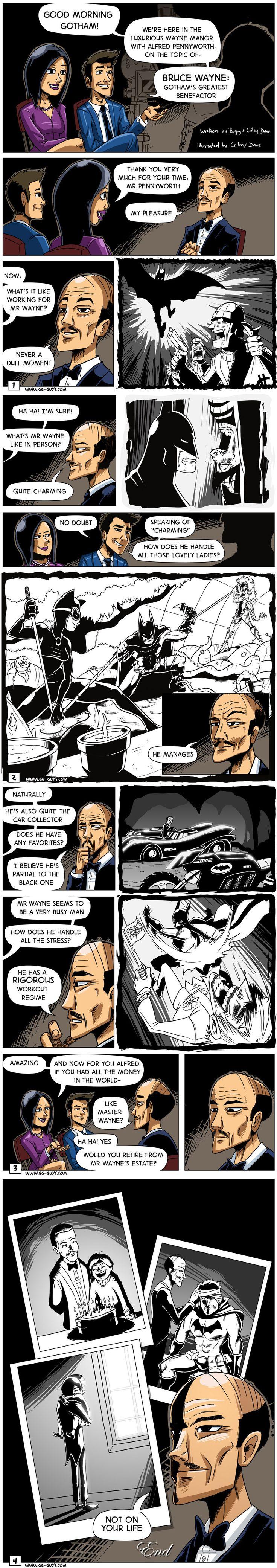 Alfred Pennyworth mucho más que un mayordomo <3     (*SupaCrikeyDave on deviantART)