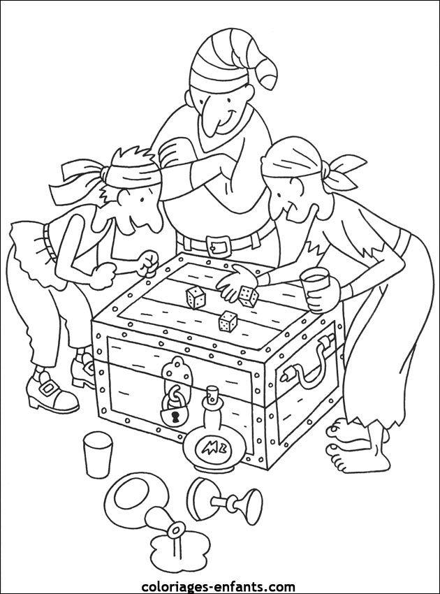 Les coloriages de pirates