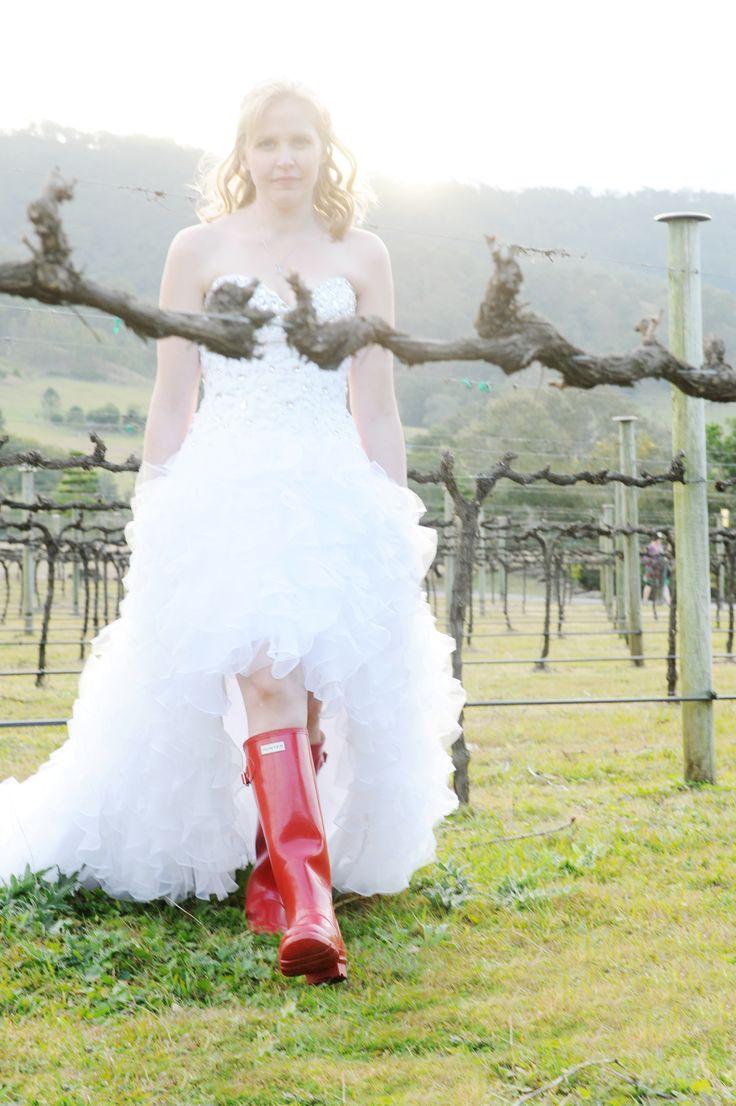 Hunter Boots make for great Vineyard Bridal footwear! Available via online #hunter #hunterboots #vineyard #orderonline