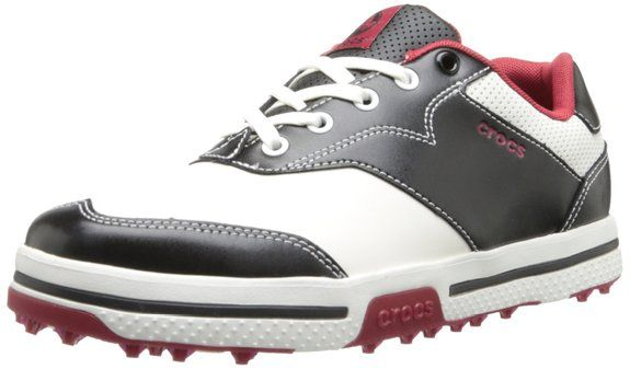 Made from leather with a manmade sole these mens Preston II M golf shoes by Crocs will ensure you have a comfortable round of golf