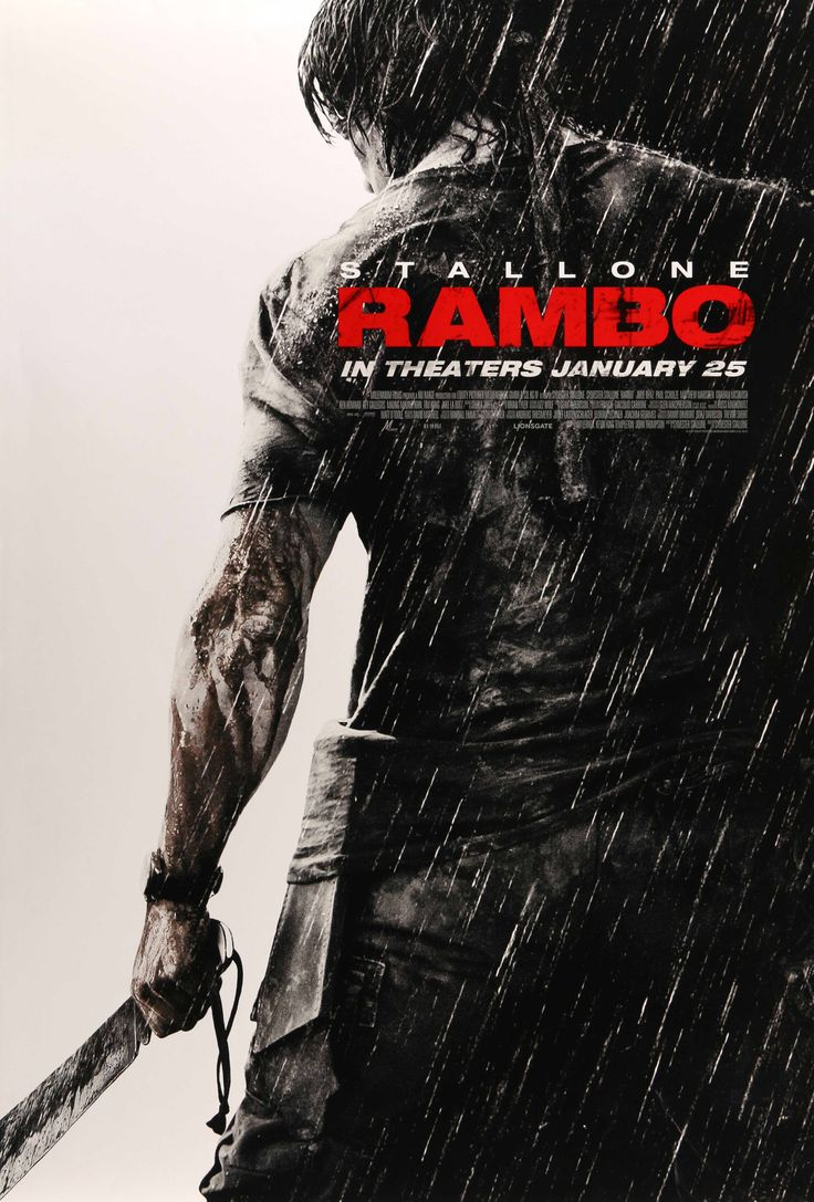"""Rambo (2008) Vintage DS One Sheet Movie Poster - 27""""x 40"""""""