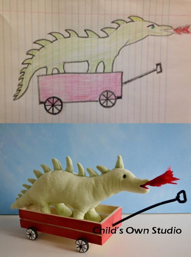 Dragon In A Wagon By Heather S Dad Child S Own Studio Is A Place