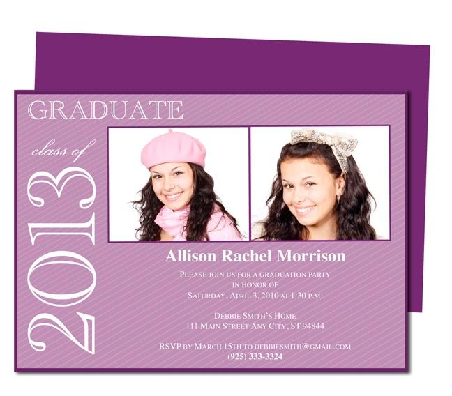 Graduation Announcements Templates : Printable DIY Allison Graduation Announcement Template