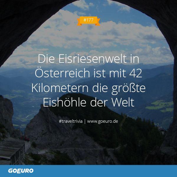 #TravelTrivia: Die Eisriesenwelt in #Österreich ist mit 42 Kilometern die größte Eishöhle der Welt