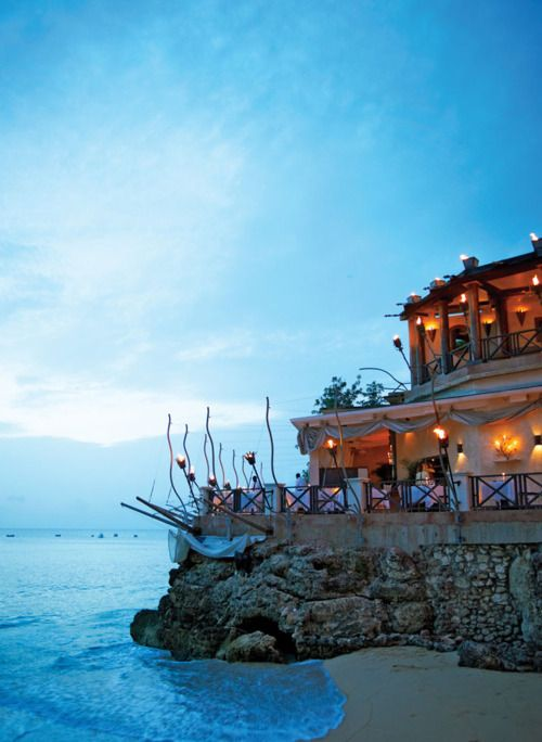 The Cliff restaurant on Barbados