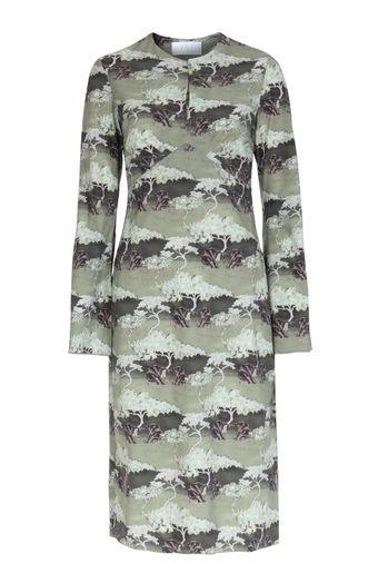 WET Kleid mit Print Grün