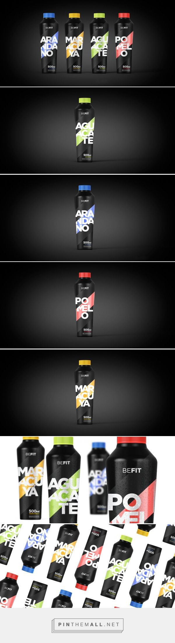 Branding, graphic design and packaging for Befit on Behance curated by Packaging Diva PD. Desarrollo de naming, packaging estructural y gráfico de zumos naturales para deportistas. Packaging design concept.
