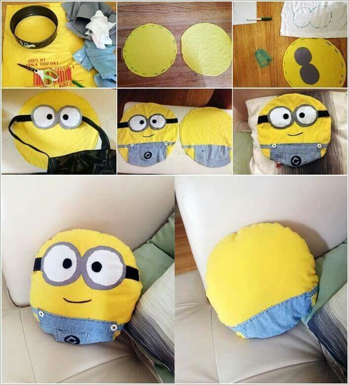 Make your own minion pillow