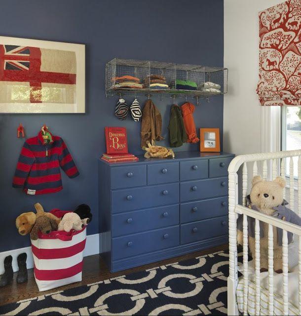 Delorme Designs: RED, WHITE AND BLUE. BM Kensington blue