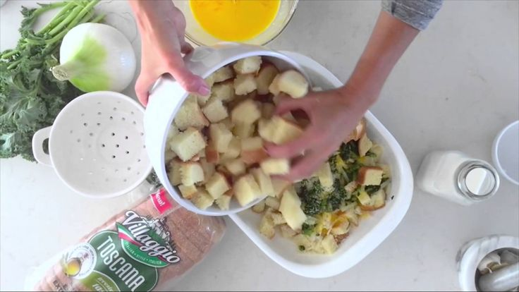 See Jillian Harris whip up this hearty and delicious kale strata with the help of new Villaggio® Toscana.