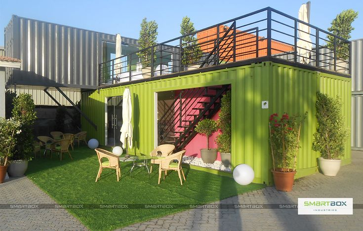 Smart cafe smartbox container cafe restaurants for Smart house container