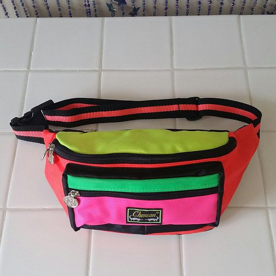 b2930496263 90s Neon Fanny Pack Pouch Vintage Bum Bag Belt 80s 90s Festival The Fresh  Prince of
