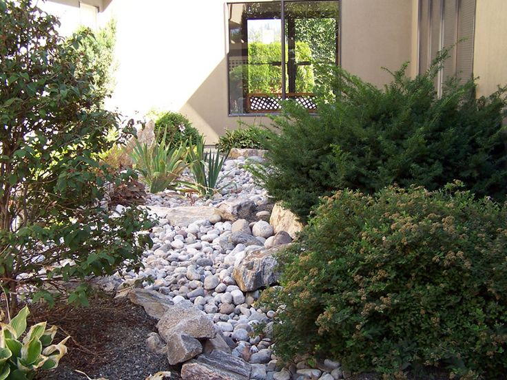 Top 40 ideas about dry river beds on pinterest gardens for Feng shui landscape design
