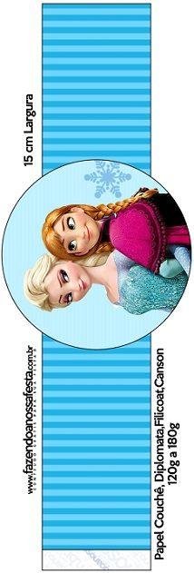 Toppers y adornos de Frozen para fiesta decoración