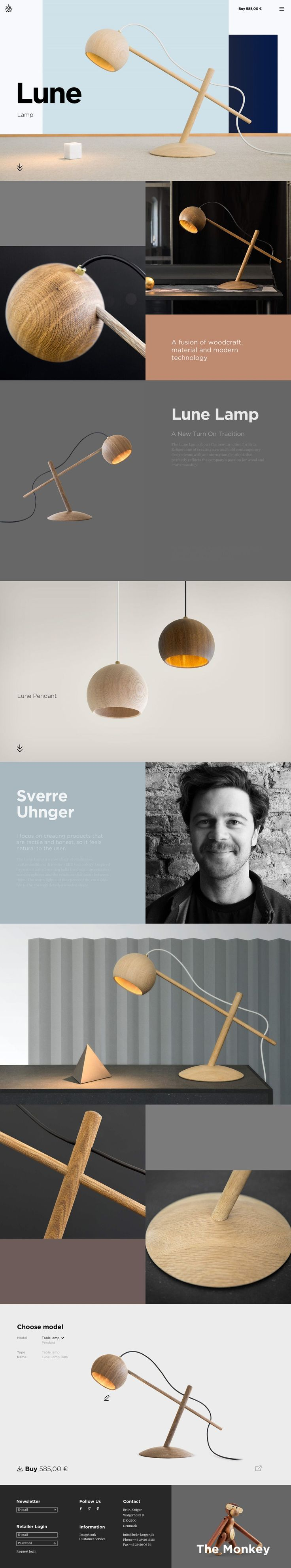 Lune Lamp. What could be better with this woodcrafted lamp of art? #webdesign…