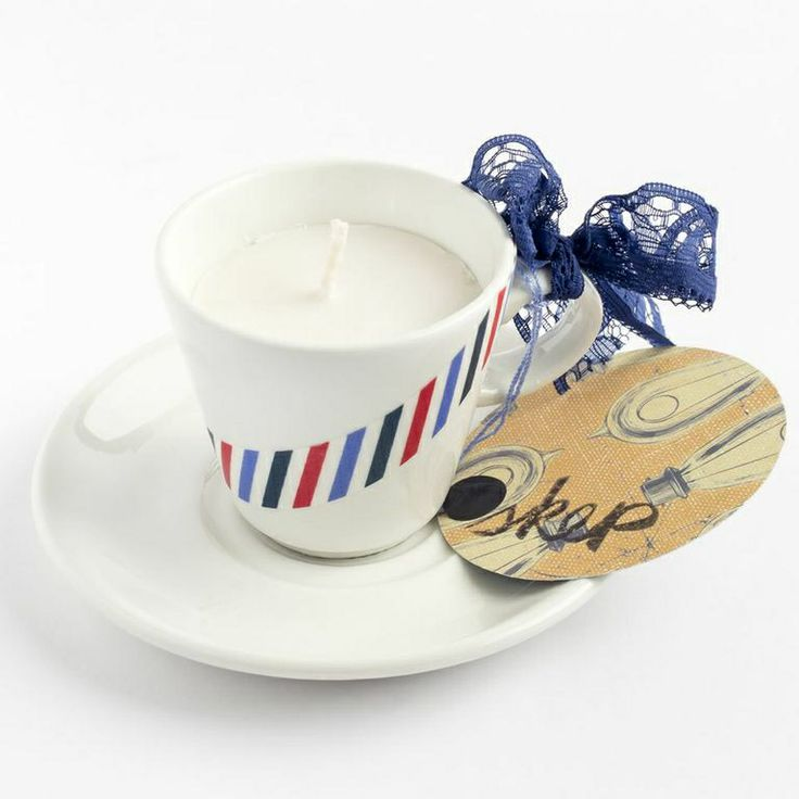 Our vanilla SOY body candles in porcelain teacups @ R75 www.skepboetiek.com