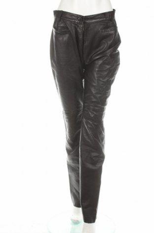 Damskie skórzane spodnie