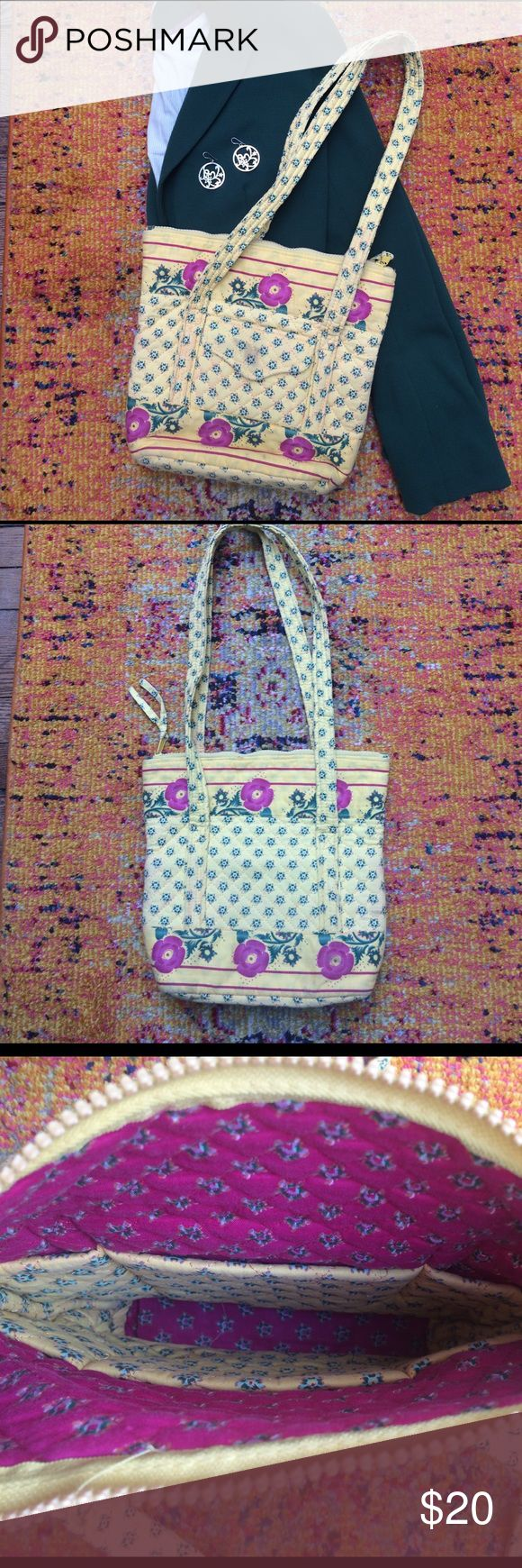 Cheerful floral purse Super cute quilted floral purse. Strong and holds a lot but not bulky. On MAJOR discount due to some spots (though might get out with wash). All outfit items on sale. Great with feminine pieces like a flowy skirt! Bags Shoulder Bags