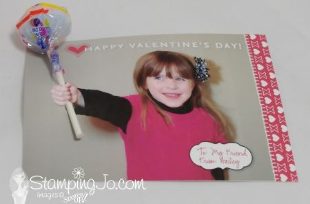 Here's a cute valentine I made for my daughter last year using Stampin' Up!'s My Digital Studio program!