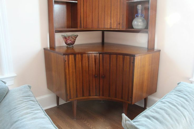 Perfect Mid Century Modern Corner Bar Hutch MidCenturyModern My Midcentury Life  Pinterest Bar Hutch Corner Bar And Mid CenturyMid Century Modern Corner Bar  Hutch ...