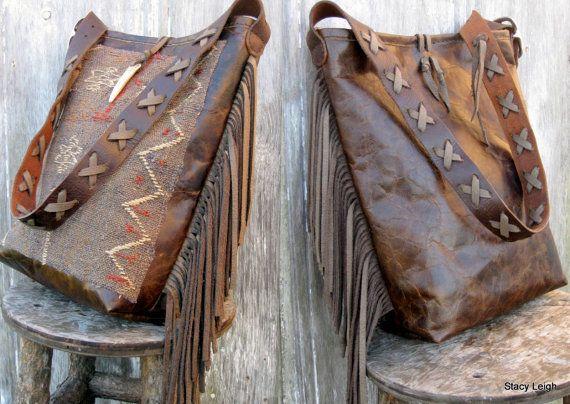 Sac tapis tribaux du XIXe siècle main tissé tapis par Stacy Leigh prêt à l