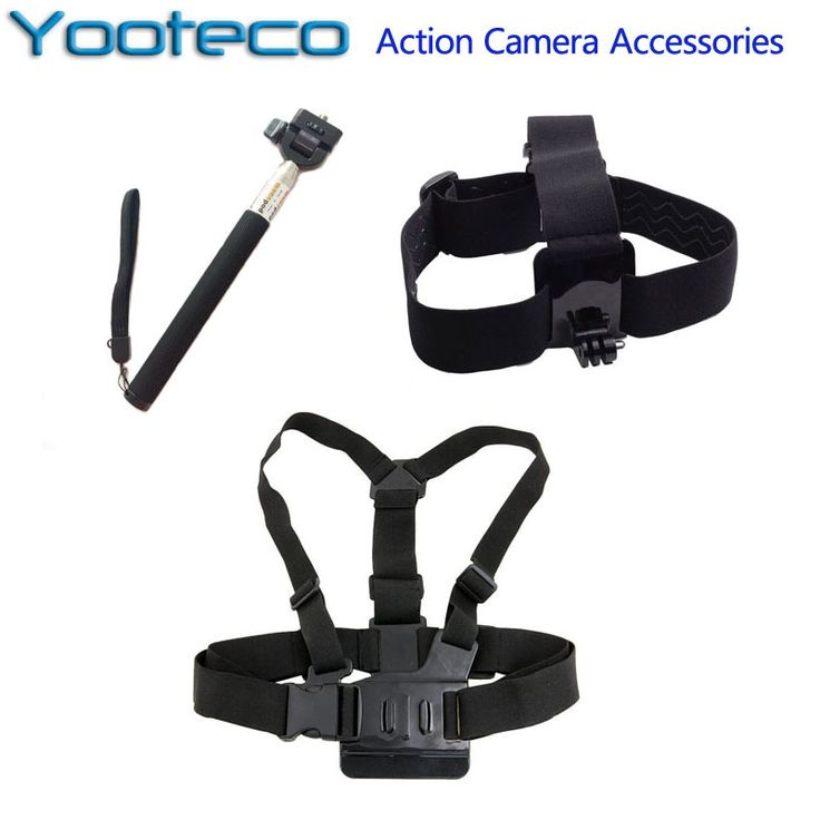 SJ4000 Accessories Set Chest Strap Head Strap Handle Monopod For GoPro Hero 4 3+ 3 2 1 SJCAM EKEN H9 Xiaomi Yi Sport Action Cam