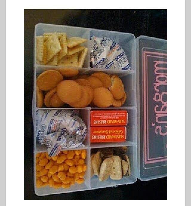 Tackle box snack holder