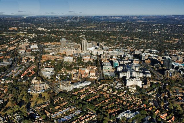 Panoramic view of Sandton (Johannesburg)/ Панорамная картина Сэндтона (Йоханнесбург)