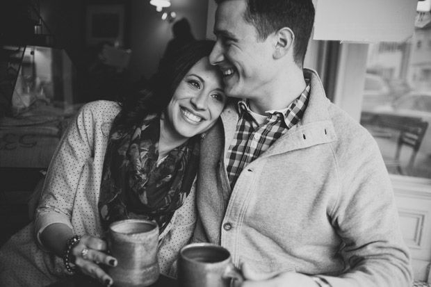 coffee shop engagement photo <3